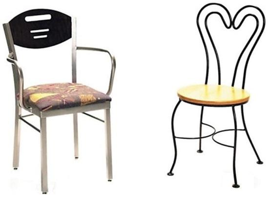 chaise en metal